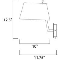 Maxim 60141WAPC Hotel LED 10 inch Polished Chrome Wall Sconce Wall Light alternative photo thumbnail