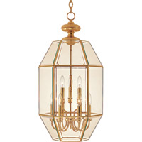 Bound Glass 9 Light 17 inch Polished Brass Pendant Ceiling Light