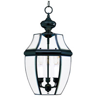 Maxim 6095CLBK South Park 3 Light 12 inch Black Outdoor Hanging Lantern