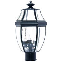 South Park 3 Light 19 inch Black Outdoor Pole/Post Lantern