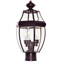 South Park 3 Light 19 inch Burnished Outdoor Pole/Post Lantern