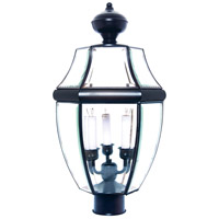 South Park 3 Light 24 inch Black Outdoor Pole/Post Lantern
