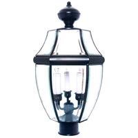 Maxim 6098CLBK South Park 3 Light 24 inch Black Outdoor Pole/Post Lantern