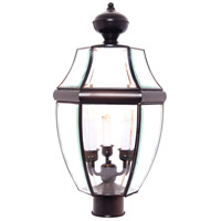 South Park 3 Light 24 inch Burnished Outdoor Pole/Post Lantern