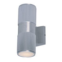 Maxim 6123AL Lightray 2 Light 4 inch Brushed Aluminum Wall Sconce Wall Light