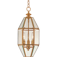 Maxim Lighting Bound Glass 3 Light Pendant in Polished Brass 61501CLPB