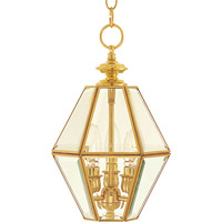 Maxim Lighting Bound Glass 3 Light Pendant in Polished Brass 6151CLPB