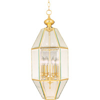 Maxim Lighting Bound Glass 6 Light Pendant in Polished Brass 61601CLPB