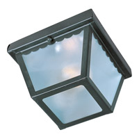 Maxim Lighting Signature 1 Light Outdoor Ceiling Mount in Black 6203FTBK