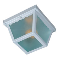 Maxim Lighting Signature 1 Light Outdoor Ceiling Mount in White 6203FTWT