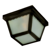 Maxim Lighting Signature 2 Light Outdoor Ceiling Mount in Black 6204FTBK