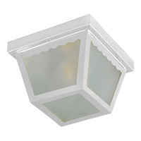 Maxim Lighting Signature 2 Light Outdoor Ceiling Mount in White 6204FTWT