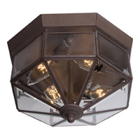 Maxim Lighting Signature 4 Light Flush Mount in Country Stone 6504CLCS