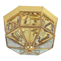 Maxim 6504CLPB Signature 4 Light 12 inch Polished Brass Flush Mount Ceiling Light photo thumbnail