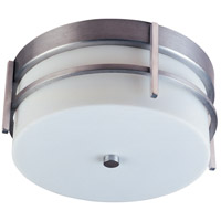 Maxim 65217WTBM Luna LED 11 inch Brushed Metal Outdoor Flush Mount
