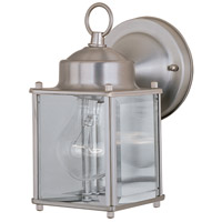 Maxim Lighting Side Door 1 Light Outdoor Wall Mount in Brushed Pewter 6879CLBP