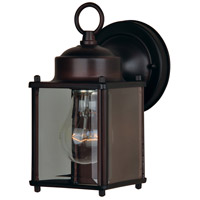Side Door 1 Light 8 inch Oil Rubbed Bronze Outdoor Wall Mount in 120 in.