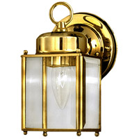 Maxim Lighting Side Door 1 Light Outdoor Wall Mount in Polished Brass 6879CLPB