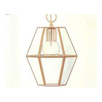 Maxim Lighting Bound Glass 1 Light Pendant in Polished Brass 6897CLPB