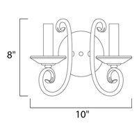 Maxim 70002OI Loft 2 Light 10 inch Oil Rubbed Bronze Wall Sconce Wall Light alternative photo thumbnail