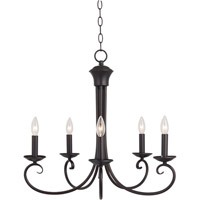 Maxim 70005OI Loft 5 Light 25 inch Oil Rubbed Bronze Single Tier Chandelier Ceiling Light