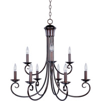 Maxim 70006OI Loft 9 Light 30 inch Oil Rubbed Bronze Multi-Tier Chandelier Ceiling Light