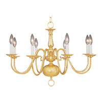 Maxim Lighting Builder Basics 8 Light Single-Tier Chandelier in Polished Brass 7101PB
