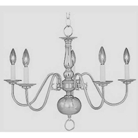 Maxim 7103SN Builder Basics 5 Light 23 inch Satin Nickel Single Tier Chandelier Ceiling Light