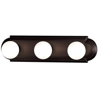 Maxim 7123OI Essentials - 712x 3 Light 18 inch Oil Rubbed Bronze Bath Light Wall Light