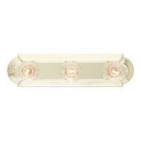 Essentials 3 Light 18 inch Polished Brass Bath Light Wall Light in 18 in.