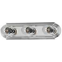 Maxim 7123PC Essentials 3 Light 18 inch Polished Chrome Bath Light Wall Light