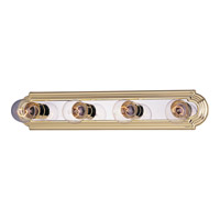 Maxim Lighting Essentials 4 Light Bath Light in Polished Brass/Chrome 7124PB/PC
