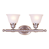 Maxim Lighting Essentials 2 Light Bath Light in Satin Nickel 7142FTSN