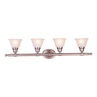 Maxim Lighting Essentials 4 Light Bath Light in Satin Nickel 7144FTSN
