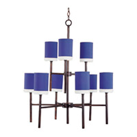 Maxim Lighting Lido 9 Light Multi-Tier Chandelier in Oil Rubbed Bronze 75065RWOI
