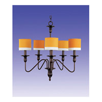 Maxim Lighting Signature 5 Light Chandelier in Oil Rubbed Bronze 75074GWOI