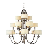 Maxim Lighting Flute 15 Light Multi-Tier Chandelier in Satin Nickel 75196PMSN