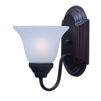 Maxim 8011FTOI Essentials - 801x 1 Light 6 inch Oil Rubbed Bronze Wall Sconce Wall Light in Frosted