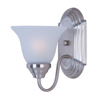 Maxim 8011FTSN Essentials - 801x 1 Light 6 inch Satin Nickel Wall Sconce Wall Light in Frosted