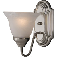 Maxim Lighting Essentials 1 Light Wall Sconce in Satin Nickel 8011MRSN