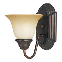 Maxim Lighting Essentials 1 Light Wall Sconce in Oil Rubbed Bronze 8011WSOI