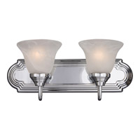 Maxim 8012MRPC Essentials - 801x 2 Light 18 inch Polished Chrome Bath Light Wall Light in Marble