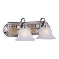 Maxim 8012MRSN Essentials - 801x 2 Light 18 inch Satin Nickel Bath Light Wall Light in Marble