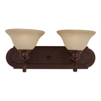 Maxim 8012WSOI Essentials - 801x 2 Light 18 inch Oil Rubbed Bronze Bath Light Wall Light in Wilshire