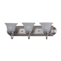 Maxim Lighting Essentials 3 Light Bath Light in Satin Nickel 8013FTSN