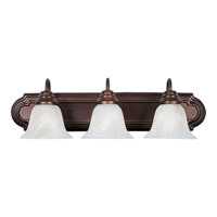 Maxim 8013MROI Essentials - 801x 3 Light 24 inch Oil Rubbed Bronze Bath Light Wall Light in Marble