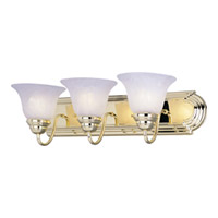 Maxim Lighting Essentials 3 Light Bath Vanity in Polished Brass 8013MRPB photo thumbnail
