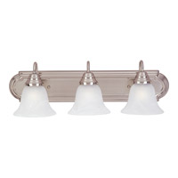 Maxim 8013MRSN Essentials - 801x 3 Light 24 inch Satin Nickel Bath Light Wall Light in Marble