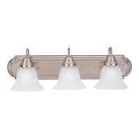 Maxim 8013MRSN Essentials 3 Light 24 inch Satin Nickel Bath Light Wall Light in Marble