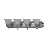Essentials 4 Light 30 inch Satin Nickel Bath Light Wall Light in Frosted